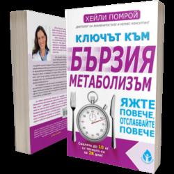 """""""Ключът към бързия метаболизъм"""" - автор Хейли Помрой, Издателство """"Вдъхновения"""""""