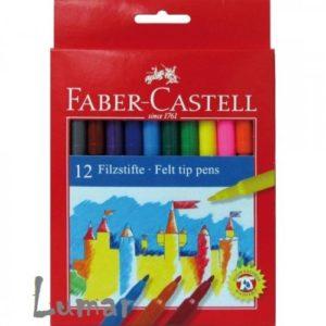 "Флумастри 12 цвята - ""Faber Castell"""