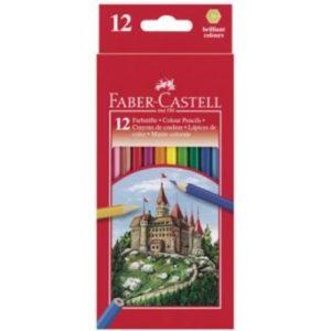 """Цветни моливи, 12 цвята - """"Faber Castell"""""""