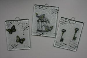 """Стъклени пана """"Мечтата няма свое има, мечтата има много имена"""" - Katikosta Ceramics&Art Glass"""