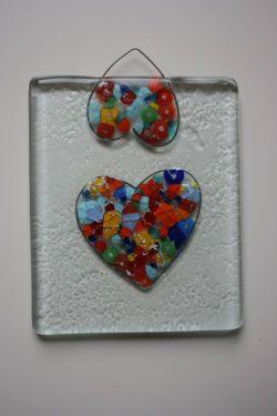 """Стъклено пано """"За любовта и други демони"""" - Katikosta Ceramics&Art Glass"""