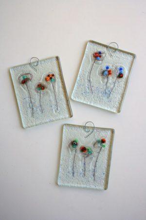 """Стъклено пано """"Глухарчета"""" - Katikosta Ceramics&Art Glass"""