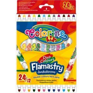 "Двувръхи флумастри 24 цвята, 12 броя - ""Colorino Kids"""