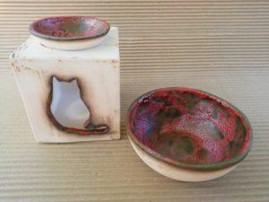 Керамична купа, бяла глина, с глазура - Katicosta Ceramics&Art Glass