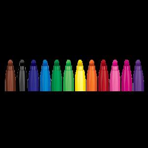 "Флумастри 12 цвята - ""Colorino Kids Jumbo"""