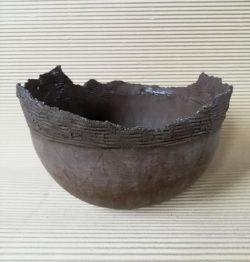 Керамична купа, черна италианска глина - Katicosta Ceramics&Art Glass