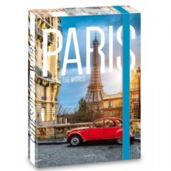 "Кутия с ластик, формат А 4, с надпис ""Paris"" - ""Ars Una"""