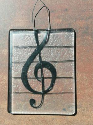 "Стъклено пано ""Ключ сол"" - Katikosta Ceramics&Art Glass"