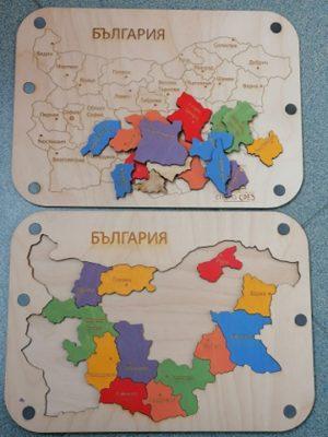 """Пъзел """"Карта на България"""""""