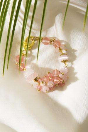 """Гривна с полускъпоценни камъни """"Pink Angel Wings"""" - """"SiddhArta hendmade"""""""