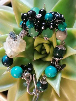 """Гривна с полускъпоценни камъни """"Jungle"""" - """"SiddhArta Handmade"""""""