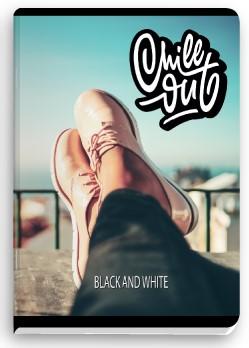 """Тетрадка """"Black and white"""" - """"GIRL"""", А 5, малък формат, 80 л."""