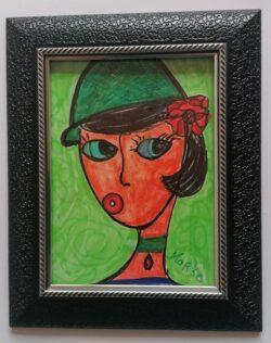 Картина - със стъкло и рамка, художник Мариана Стефанова