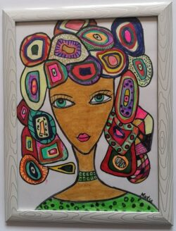 Картина - смесена техника, художник Мариана Стефанова